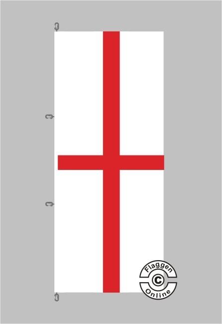 England Hochformat Flagge / Fahne für extreme Windlasten