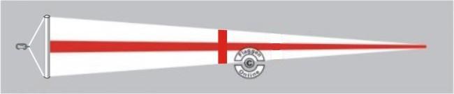 England Langwimpel mit Querholz