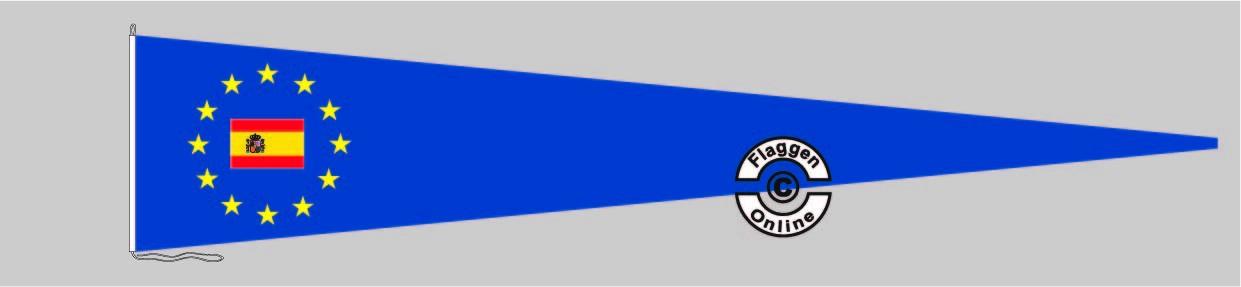 Europa Spanien mit Wappen Langwimpel