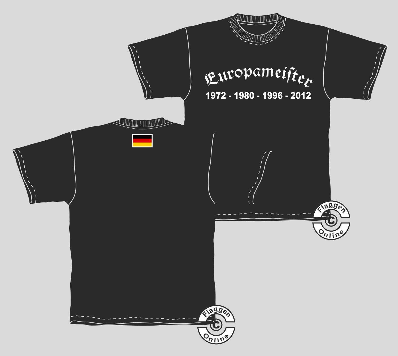 Europameister 1972-1980-1996-2012 T-Shirt