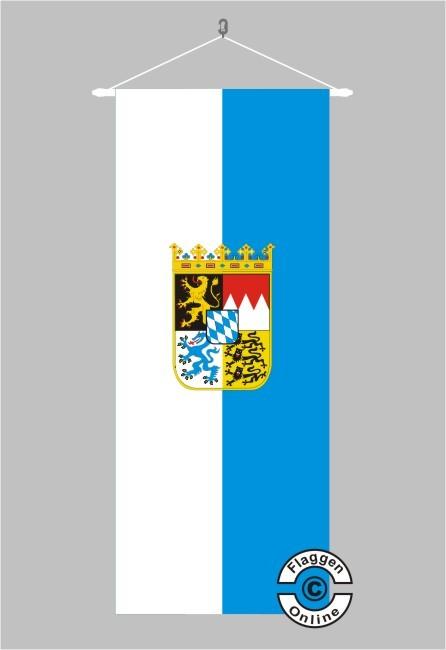 Bayern mit Wappen Banner Flagge
