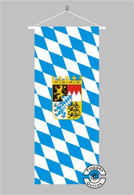 Bayern Raute mit Wappen Banner Flagge