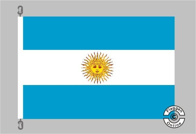 Argentinien m. Wappen Flagge