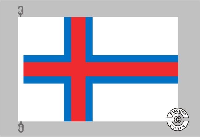 Faeroer / Färöer Flagge