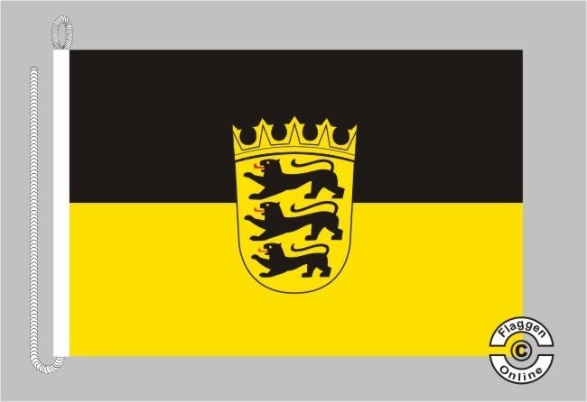 Baden-Württemberg mit Wappen Bootsflagge