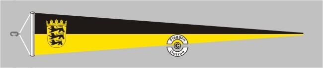 Baden-Württemberg mit Wappen Langwimpel mit Querholz