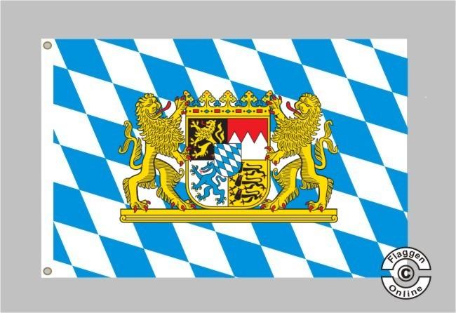 Bayern mit Löwenwappen Flagge