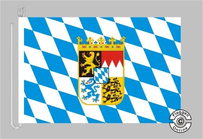 Bayern Raute mit Wappen Bootsflagge