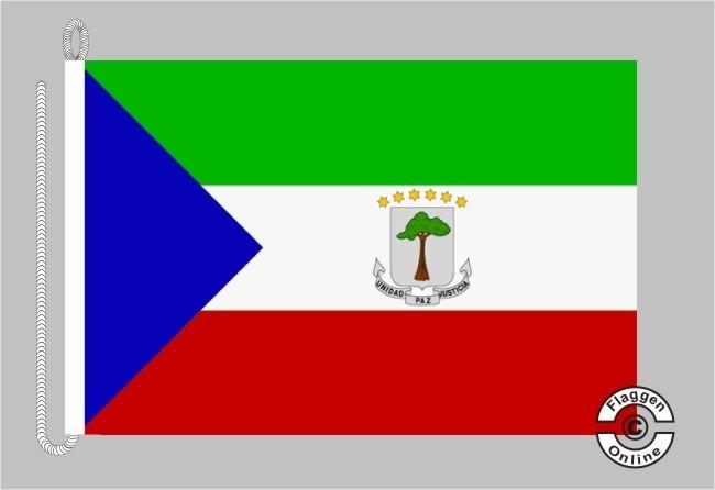 Aequatorial Guinea / Äquatorialguinea Bootsflagge