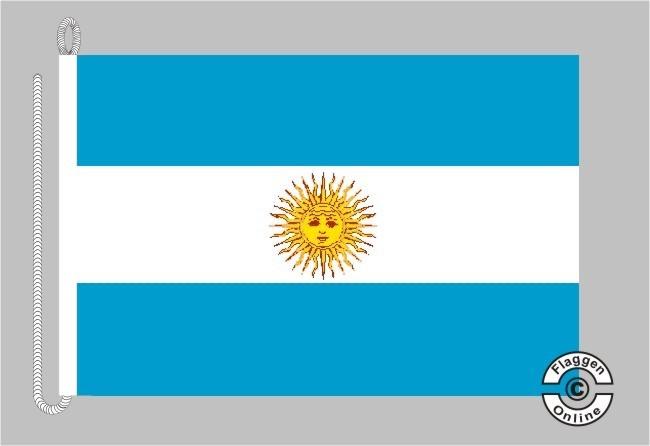 Argentinien mit Wappen Bootsflagge