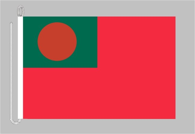 Bangladesch Handelsflagge Bootsflagge