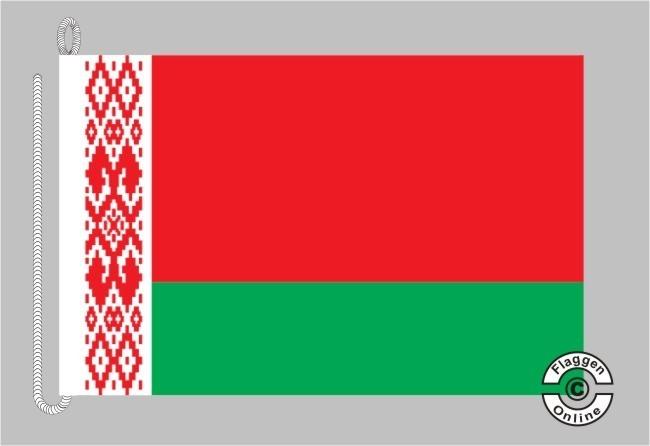 Weißrussland Belarus Bootsflagge