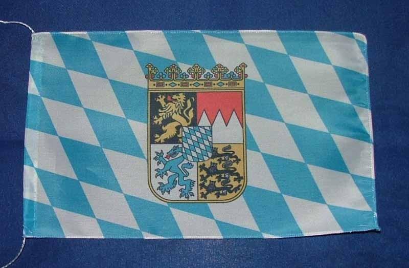 Bayern Raute mit Wappen Tischflagge