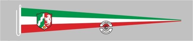Nordrhein-Westfalen mit Wappen Langwimpel