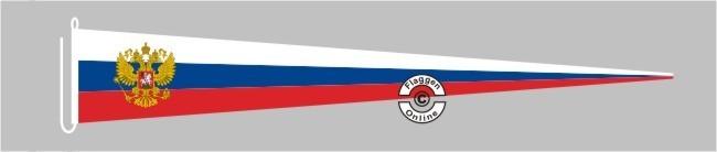 Russland mit Wappen Langwimpel