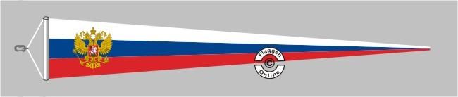 Russland mit Wappen Langwimpel mit Querholz