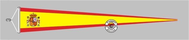 Spanien mit Wappen Langwimpel mit Querholz
