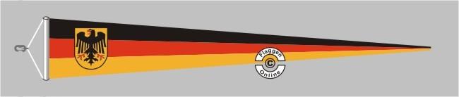 Deutschland Dienst Langwimpel mit Querholz