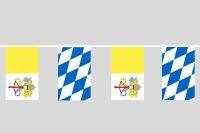 Bayern Vatikan Flaggenkette