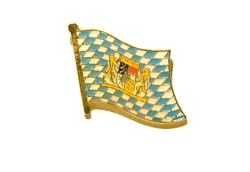 Bayern Raute mit Löwenwappen Flaggenpin