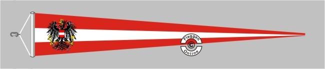 Österreich mit Wappen Langwimpel mit Querholz