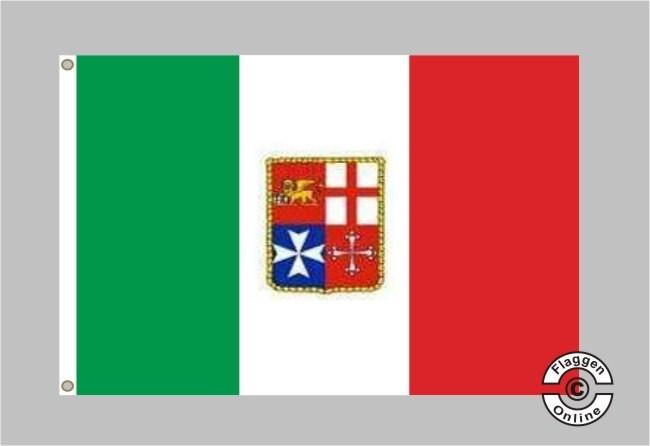 Italien Mit Wappen Flagge Fahne Staaten International