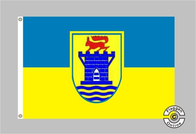 Flagge Fahne Eckernförde Hissflagge 90 x 150 cm