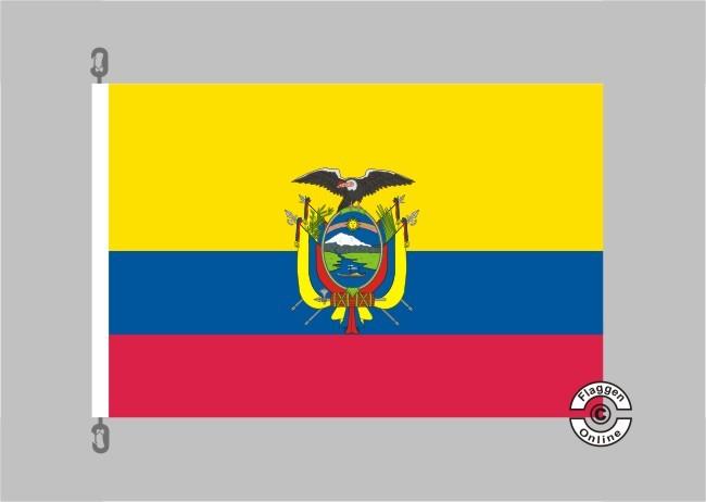 Ecuador mit Wappen Flagge
