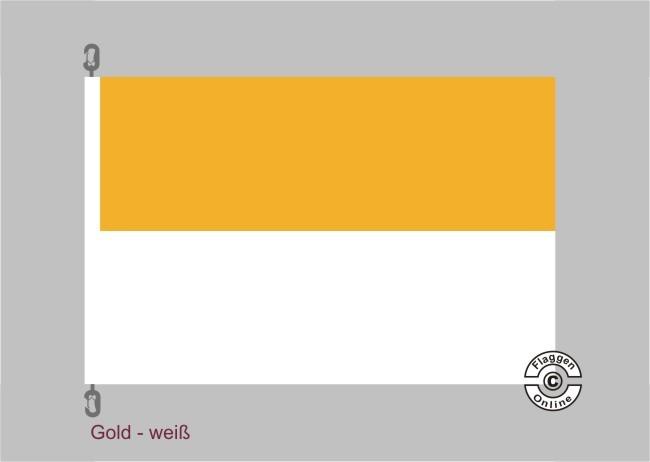 Deutschlandgelb-Weiß Streifenflagge