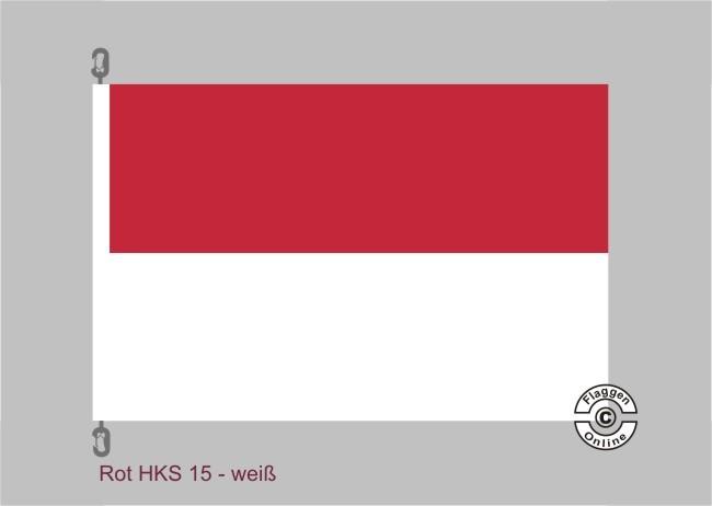 Rot-Weiß Streifenflagge
