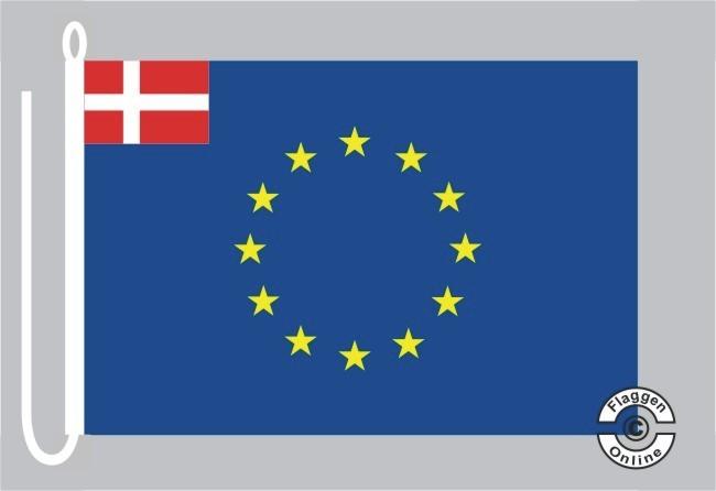 Dänemark Europa Bootsflagge