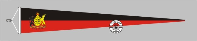 Württemberg Furchtlos und trew Langwimpel mit Querholz