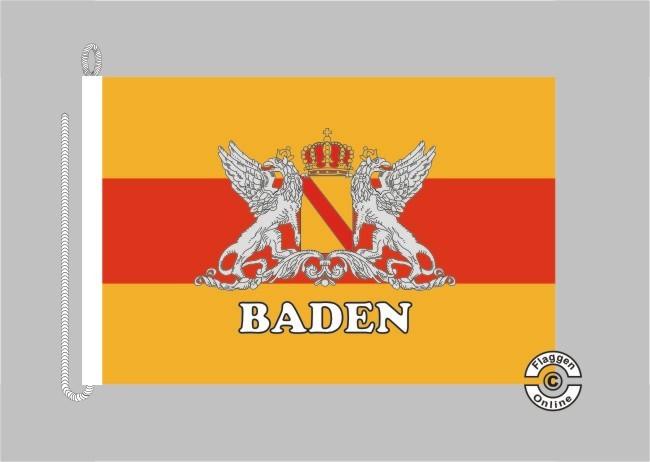 Baden Großherzogtum Schriftzug Baden Bootsflagge