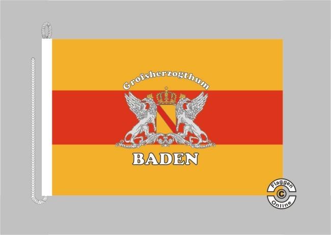 Baden Großherzogtum Schriftzug Großherzogthum Bootsflagge