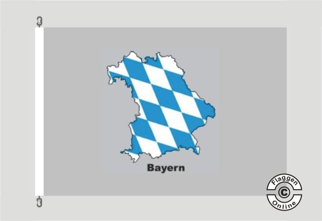 Bayern Kontur grau Flagge