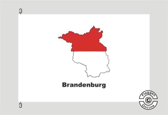 Brandenburg Kontur weiß Flagge