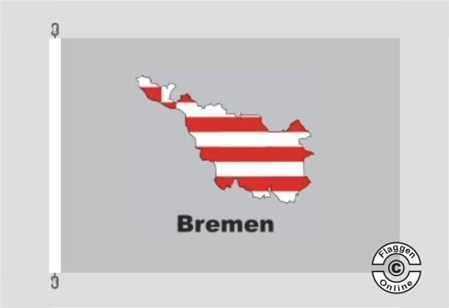 Bremen Kontur grau Flagge