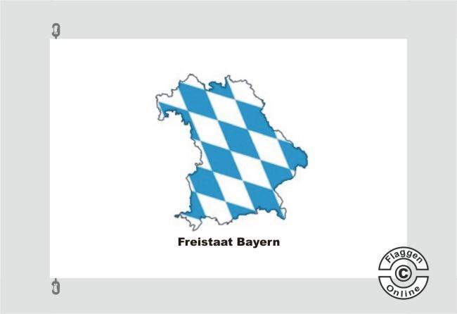 Bayern Freistaat Bayern Kontur weiß Flagge