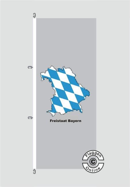 Bayern Freistaat Bayern Kontur grau Hochformat Flagge