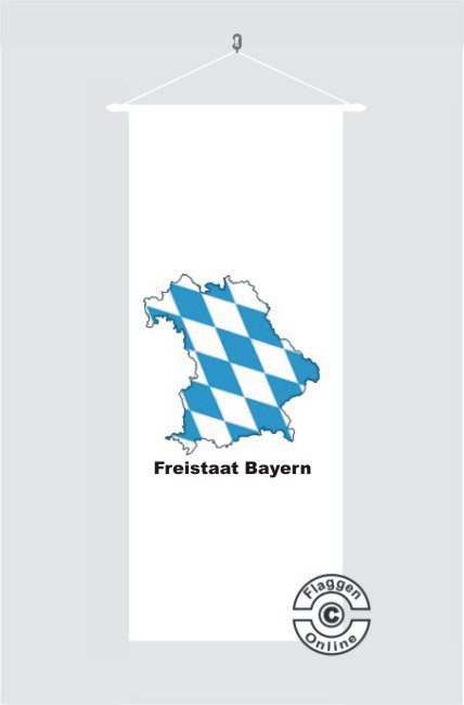 Bayern Freistaat Bayern Kontur weiß Banner Flagge