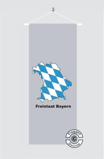 Bayern Freistaat Bayern Kontur grau Banner Flagge