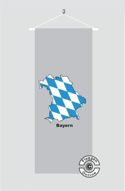 Bayern Kontur grau Banner Flagge