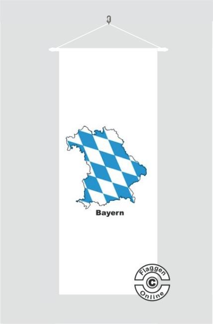 Bayern Kontur weiß Banner Flagge