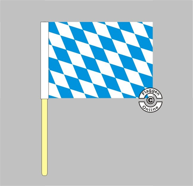 Bayern Raute Stockflagge