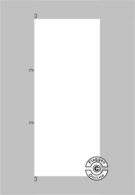 Weiß Hochformat Flagge