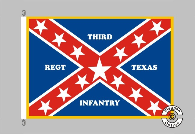 3rd Texas Infanrty Regiment Walker's Division Flagge
