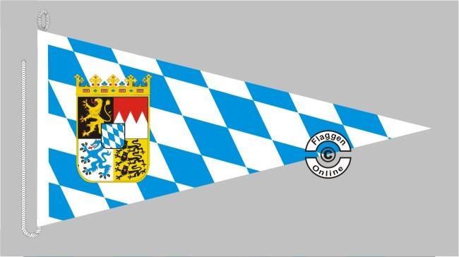 Bayern Raute mit Wappen Bootsstander Wimpel