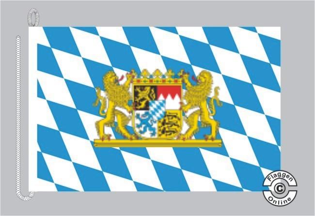 Bayern Raute mit Löwenwappen Bootsflagge