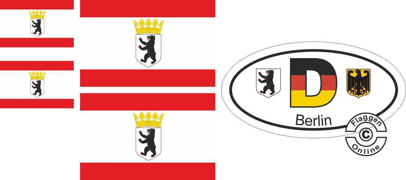 Berlin Bär mit Krone Aufkleber