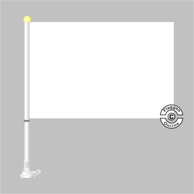 Weiße Autoflagge